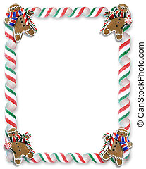 Christmas Cookies and Candy Frame - Image and illustration...