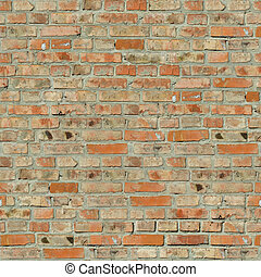 Brick Wall Texture. - Red Bricks. Seamless Tileable Texture.