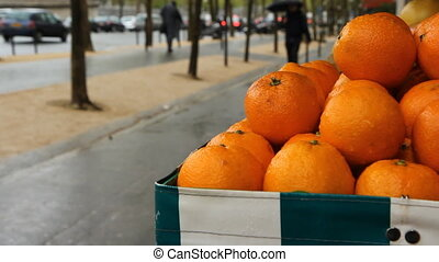 Oranges for sale. - Oranges at an outdoor fruit shop on a...