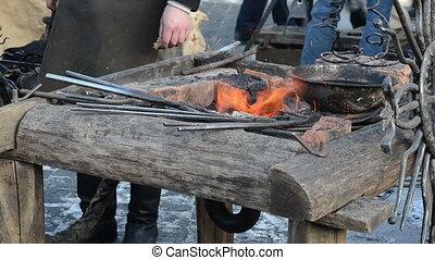 iron fire ember heat