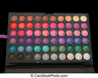 professiona make-up eye shadows palette isolated