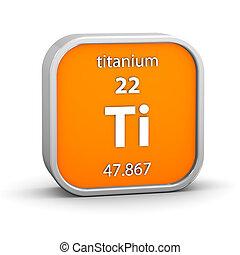 titanio, material, señal