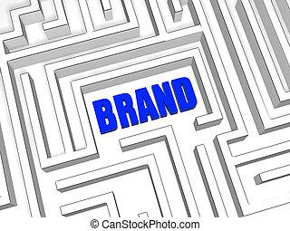 blue brand in labyrinth