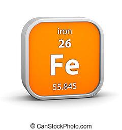 hierro, material, señal