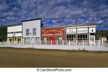 Dawson City, Yukon - DAWSON CITY - SEPT1: Famous city from...