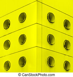 Yellow interior architecture abstract dirt vents - Yellow...