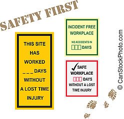 Workplace Safety Signs - Workplace safety signs for incident...