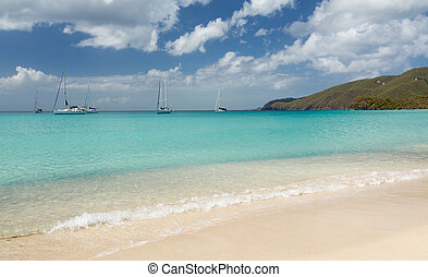 Brewers Beach scene St Thomas USVI