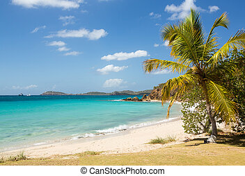 Beach scene St Thomas USVI - Beach scene on island of St...