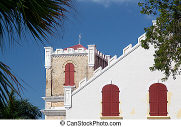 Frederick Lutheran church in Charlotte Amalie - Side view of...