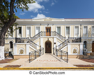 Legislature of US Virgin Islands - Ornate entrance to...
