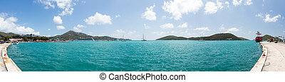 Panoramic view of Charlotte Amalie St Thomas - Panoramic...