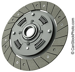 Vehicle clutch plate - Car clutch plate isolated on a white...