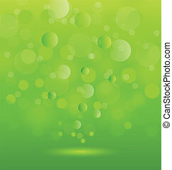 Abstract background green lights