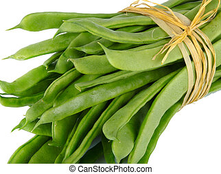 Mangetout Taccole - Fresh mangetout on white background