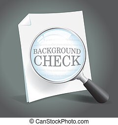 Background Check - Reviewing a background check report with...