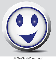 Smiley for various uses - Vector for use on the web,...