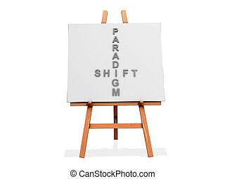 Art Easel Flow Paradigm Shift - Art Easel on a white...