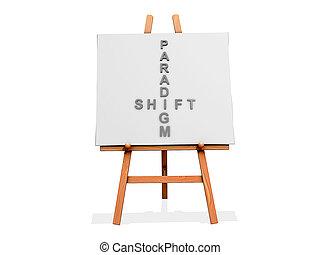 Art Easel Flow Paradigm Shift - Art Easel on a white...