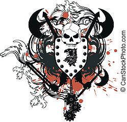 heraldic coat of arms crest skull2 - heraldic coat of arms...