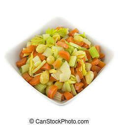 Salad with ginko nuts - Salad consisting of celery, carrot...