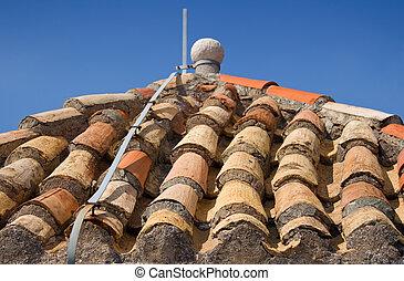 Lightning rod on the roof