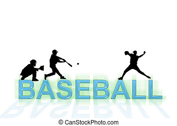 Baseball Wallpaper - Baseball wallpaper with silhouettes and...