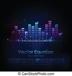 Music Equaliser - illustration of music equaliser bar in...
