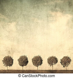 grunge image of trees