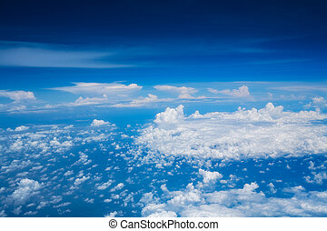 Beautiful skyscape - Beautiful white clouds and blue sky...