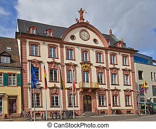 Old city hall 1741 in Offenburg - Old city hall circa 1741...