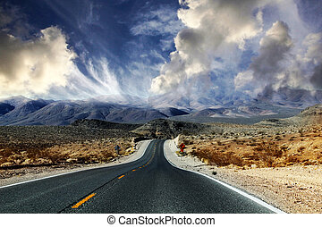 Death Valley in Nevada - Great American road, crossing a...