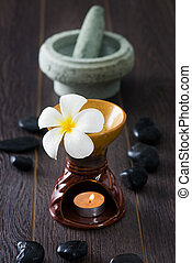 frangipani spa and aroma  therapy treatment with hot rocks