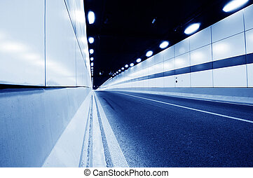 Inside the tunnel - Abstract car in the tunnel trajectory