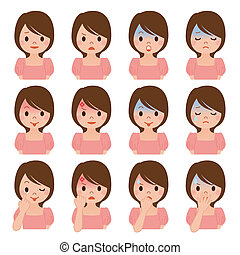 Expression of multiple women
