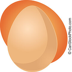 Egg illustration clipart whole uncracked unpeeled in shell
