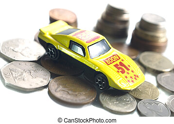 Coin and car model