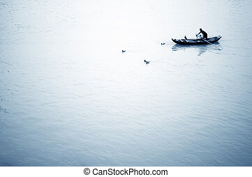 Cormorant fishing - The old way of fishing: using cormorants...