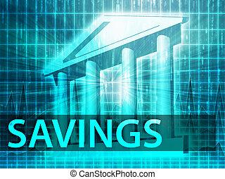 risparmi, illustrazione
