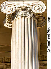 Ionic Column - Detailed Ancient Greek Ionic Column