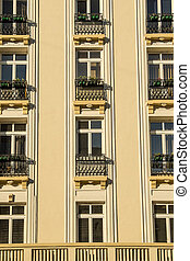 Art Deco Style Building Details In Bucharest, Romania