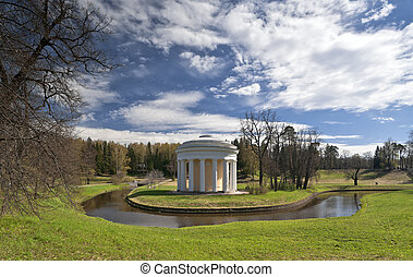 Classical rotunda in early spring - Classical rotunda with...