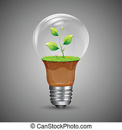 Growing Innovation - illustration of growing plant inside...