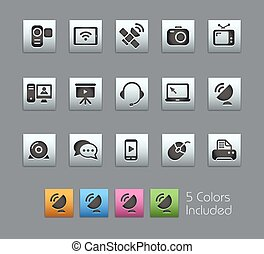 Communication Icons Satinbox - The vector file includes 5...