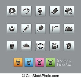 Food Icons - Set 2 of 2 Satinbox - The vector file includes...