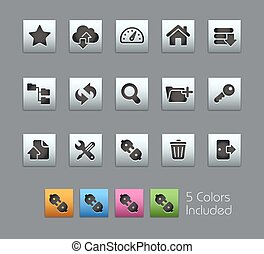 FTP and Hosting Icons Satinbox - The vector file includes 5...