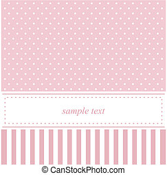 Vector baby pink card or invitation - Vector card or...