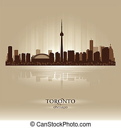 Toronto Ontario skyline city silhouette Vector illustration