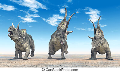 Dinosaur Diabloceratops - Diabloceratops is a genus of...