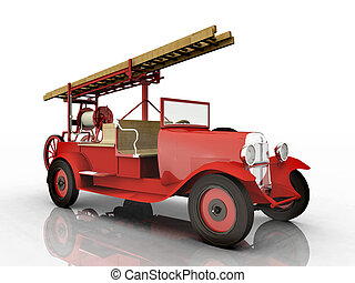 Fire Department Vehicle - Computer generated 3D illustration...